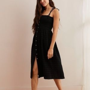 Aerie Smocked button up midi dress